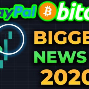 THE BIGGEST CRYPTO NEWS OF 2020 IS HERE!!!! BITCOIN IS EXPLODING TO $13,000 RIGHT NOW!!! PAYPAL!!