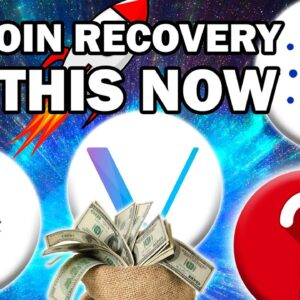 URGENT!! HUGE BITCOIN AND ALTCOIN RECOVERY (DO THIS NOW)
