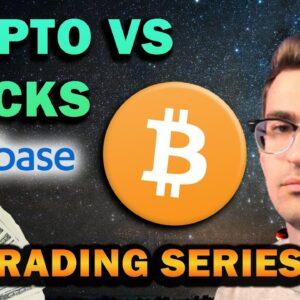 $10k to $100k Crypto vs Stocks Trading Series Ep. 1