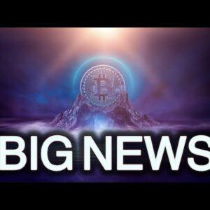 BIG NEWS FOR BITCOIN! IGNORE THE FUD!!