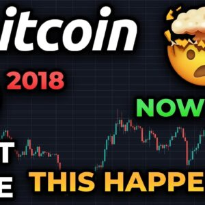 JANUARY 2018 WAS THE LAST TIME BITCOIN DID THIS!! YOU HAVE TO SEE IT!! BULLISH WEEKLY CLOSE COMING!
